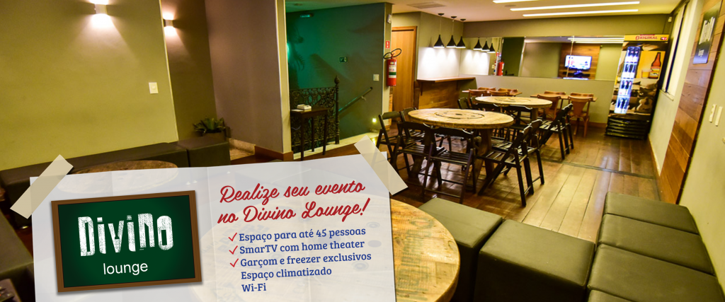 foto do lounge do divino